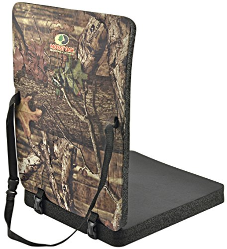 Mossy Oak Thermal Seat with Back Rest, Camo (Mossy Oak Tie)