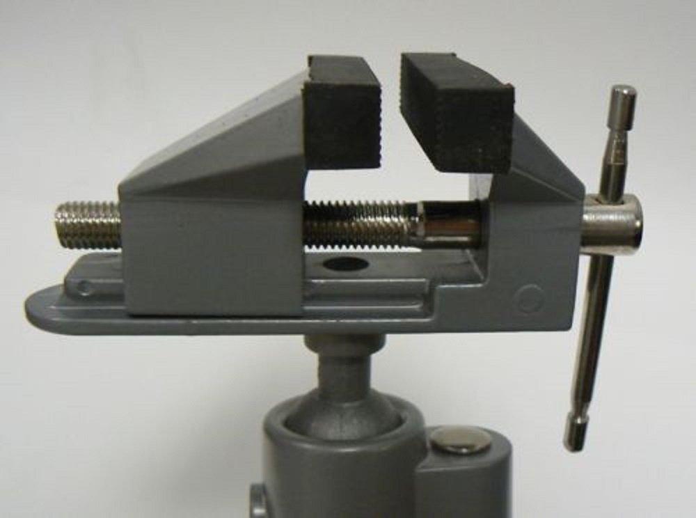 Vises Bench Swivel w/ Clamp 3'' Tabletop Vise Tilt Rotates 360° Work Bench Tool