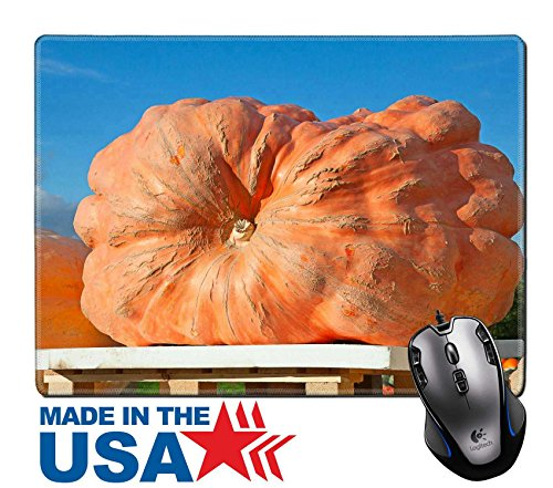 "MSD Natural Rubber Mouse Pad/Mat with Stitched Edges 9.8"" x 7.9"" IMAGE ID: 31634173 Giant pumpkin winner of the pumpkni contest on the autumn (Halloween Contest Ideas Office)"