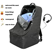 Magictodoor Foldable Padded Travel Car Seat Backpack Waterproof Travel Bag w/Extra Shoulder Mesh Pockets