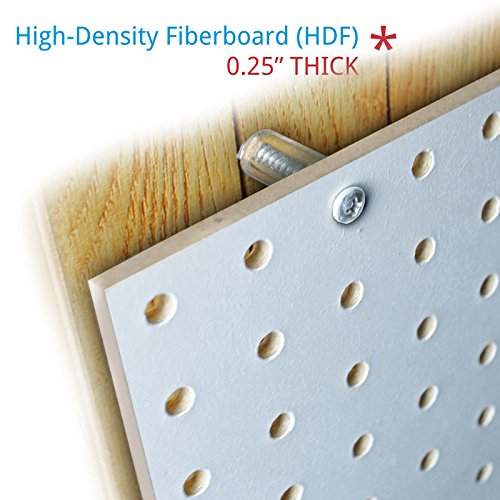 New 48''x24'' White Peg Board Kit Tool Storage Organizer w/Hooks Display Panel by Pegboard (Image #1)