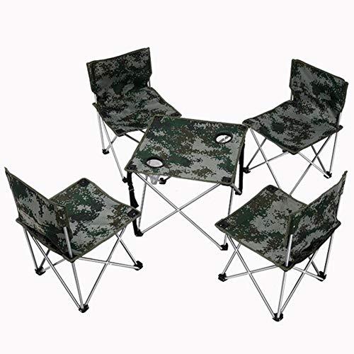 HQCC Mesa Plegable al Aire Libre Mesa de Comedor Mesa de Billar Mesa Plegable de Camping para el hogar Mesa portatil 1 Mesa 4 sillas