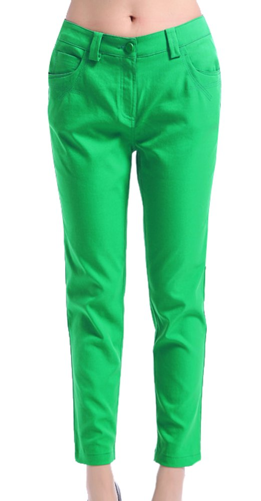 Generic Women's Summer Leisure Trousers Size 28 Green
