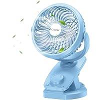 CAVN 5000 mAh Stille Tafel Ventilator Clip Ventilator, Mini USB Ventilator, Auto-oscillerend, 360 ° Rotatie Oplaadbare…