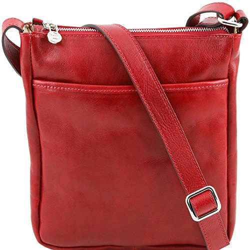 Tuscany Leather - Leather Shoulder Bag For Red Man Red Taille Unique