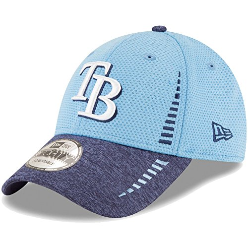 Tampa Bay Rays New Era Speed Tech 9FORTY Adjustable Hat Light Blue/Heathered Navy
