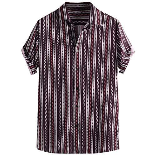 iHPH7 Man Muscle Shirt Man Pirate Shirt Man Polo Shirt Man Skeleton Shirt Man Tank top Man Undershirt Man Zipper Hoodie Man Yellow Shirt (XL,3- Red)]()