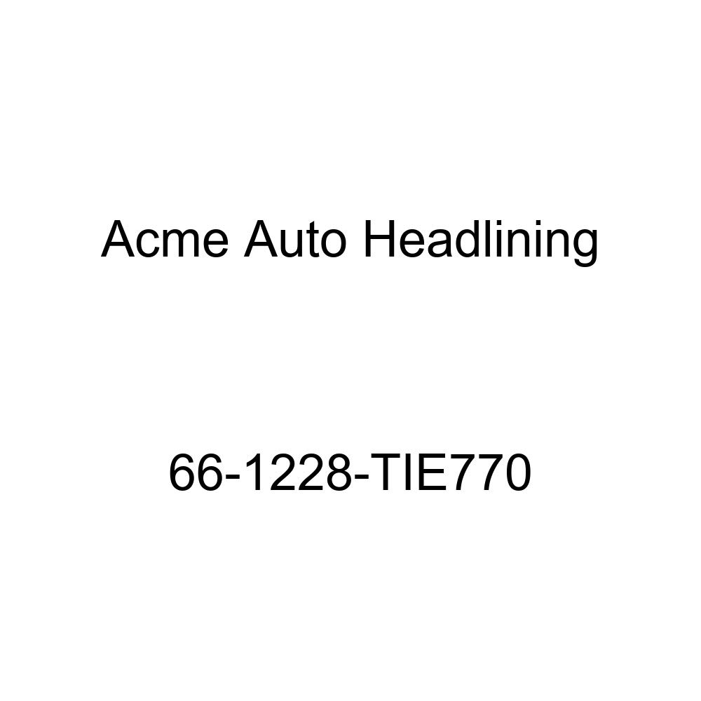 Oldsmobile F85 4 Door Station Wagon 8 Bows Acme Auto Headlining 66-1228-TIE770 Black Replacement Headliner