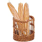 Baguette Basket Round Natural Willow - 12'' Dia x 12'' H