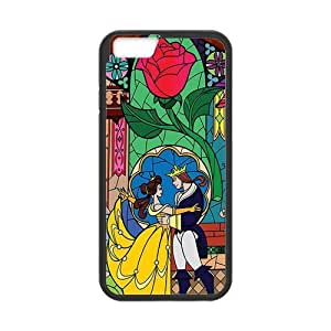 ROBIN YAM Beauty and The Beast Hard TPU Rubber Coated Phone Case Cover for iPhone 6 4.7