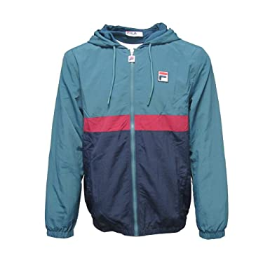 a3d0b8f5b Fila Vintage Tate Half Zip Hooded Jacket   Peacoat