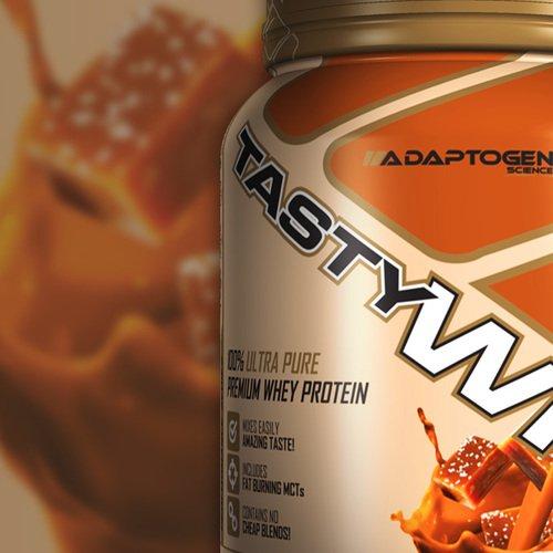 Adaptogen Science Tasty Whey Protein Supplement, Sea Salt Caramel, 5 Pound by Adaptogen Science