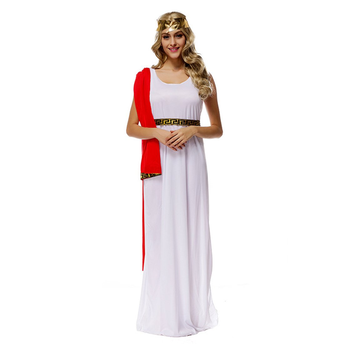 MV Zeus Goddess Athena White Costume Halloween Dress Uniform Cosplay