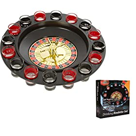 EZ DRINKER Shot Spinning Roulette Game Set (16-Pie...