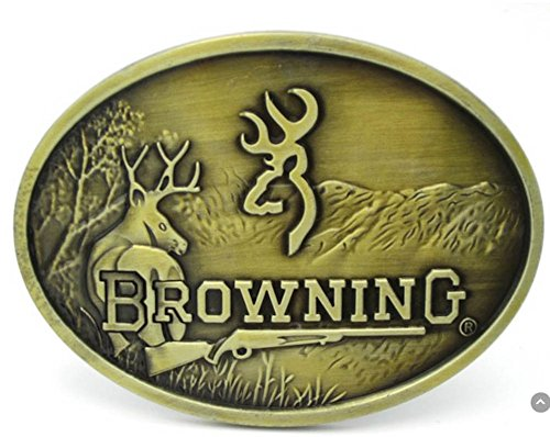 Gold Browning Hunting Belt Buckle Bronze Finish
