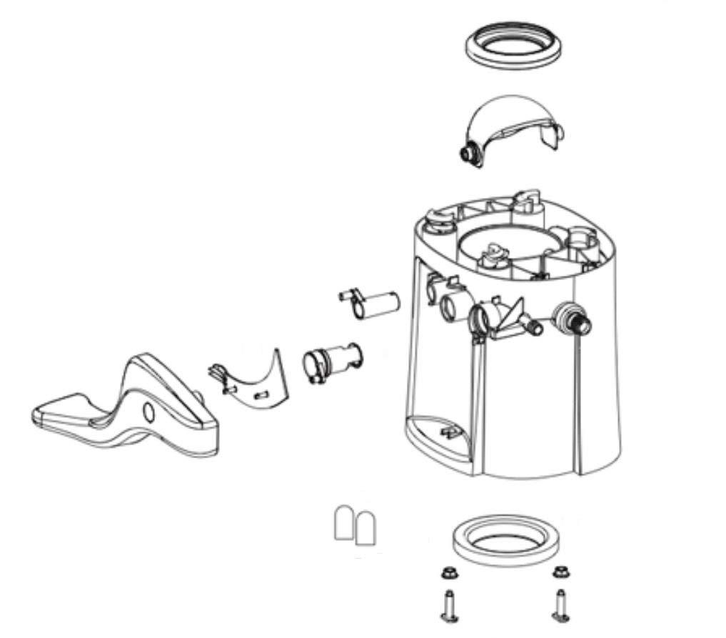 Thetford Corp 42137 Base for Aqua-Magic Style II Toilet - High White by Thetford