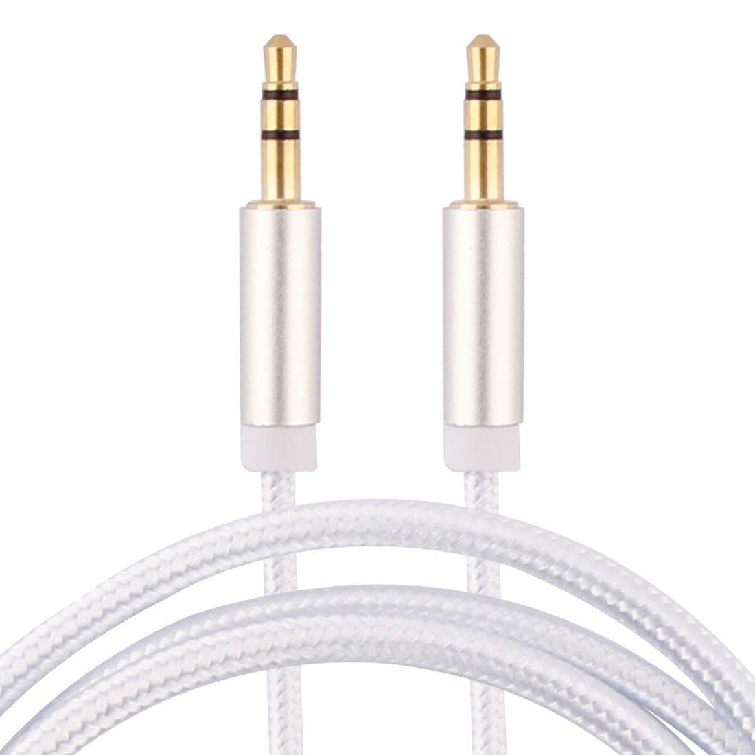 Amazon.com: eDealMax Nylon PC del ordenador Principal al aire Libre MP3 Player teléfono inteligente DE 3,5 mm Macho a Macho Dorado Cable de Audio Cable Hilo ...