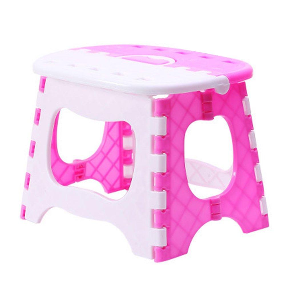 VORCOOL Plastica Rughe-Tragbarer Passo Passo Sgabello Sgabello per Bambino casa Giardino della Cucina Bagno Soggiorno (Rosa)