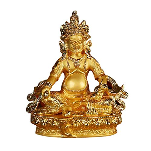 YOTATO Tibetan Tantra with A Small Buddha Statue Gold-Plated Chinese Style Various Wisdom Gift Package Sculpture