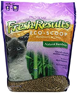 Pro-Sense Fresh Results Eco-Scoop Bamboo Cat Litter, 8-Pound (FR-83176)