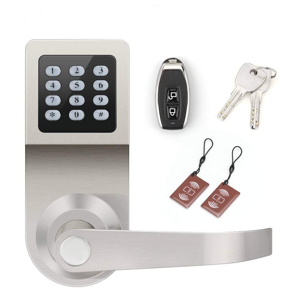 FLOUREON Digital Door Lock Smart Electronic Lock Right Hand Access Keyless Code Door Lock Entrance Door Lock Keypad Smartcode Home Security Locks