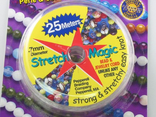 Cord Knot Stretch (Stretch Magic Clear Bead Cord.7mm 25 meters (about 82ft))