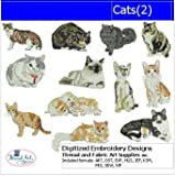 Machine Embroidery Designs - Cats(2) - CD