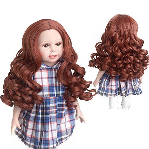Wigs Only! Garnet American Girl Doll Wigs Heavy Curls Hair Fit 10-11