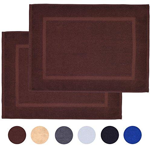 Alurri Bath Mat Set - 2 Pack - Brown 20