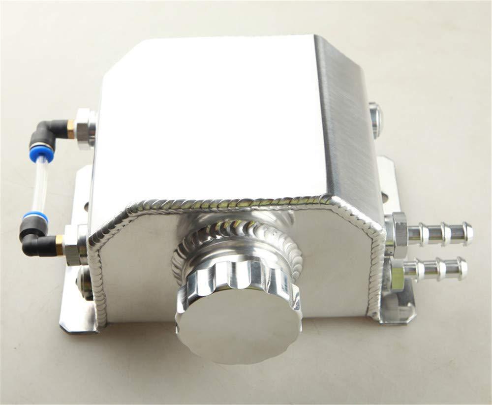 Adlerspeed 1L liquide de refroidissement Radiateur trop-plein Ré servoir d'eau de restauration Bouteille en aluminium poli