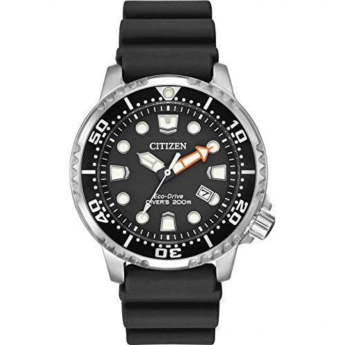 Citizen Watch Promaster Diver Men s Solar Powered Watch with Black Dial  Analogue Display and Black Rubber Strap Bn0150-28E  Amazon.co.uk  Watches 7db718755