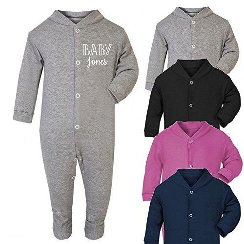 Personalised baby surname baby sleep suit baby romper babygrow new personalised baby surname baby sleep suit baby romper babygrow new baby gifts newborn baby gifts personalised negle Images