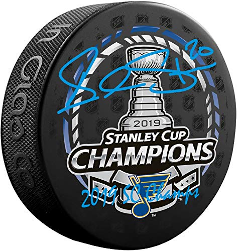 Alexander Steen St. Louis Blues 2019 Stanley Cup Champions Autographed Stanley Cup Champions Logo Hockey Puck with