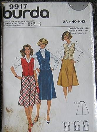 BURDA True Vintage Schnittmuster 9917 - Damen Rock + Veste - gr 38 ...
