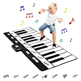 Toys : Best Choice Products 71in Giant Heavy-Duty Vinyl 24 Keys Piano Keyboard Music Playmat w/ 8 Instrument Settings - Black