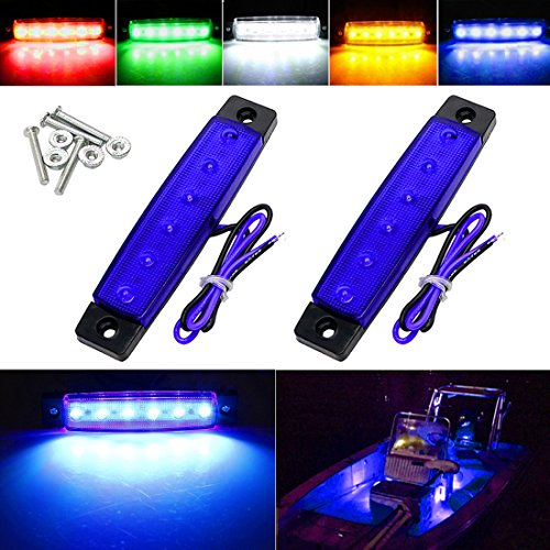 Shangyuan Marine Led Utility Strip Lights, Marine Led Light Courtesy, Marine Led Lighting, Boat Led Courtesy Lights, 12 Volt Led Strip Lights, Boat Deck Lights, Led Boat Courtesy Lights (Pack of 2)
