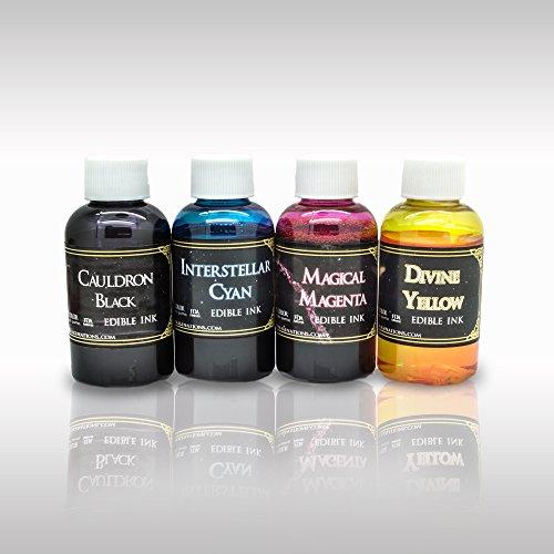 Edible Ink Replenishment Kit Refill 4 Pack - 2oz - Bottles Pg Printer Refill