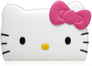 Hello Kitty iPhone 7 Plus Case, 3D Wallet Case for Apple iPhone 7 Plus (5.5) -24k Gold Electromagnetic Shield Sticker- White