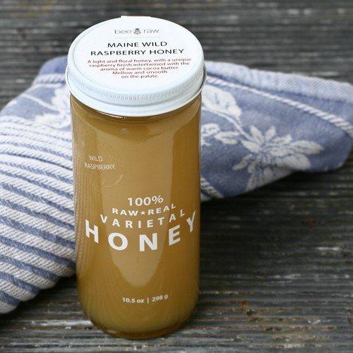 Maine Wild Raspberry Raw Honey (1.122 pound)