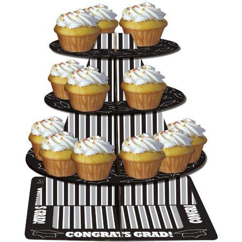 Art Gravy Boat - Creative Converting Paper Art Tiered Cupcake Server, Congrats Grad