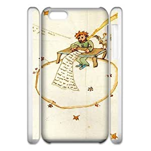 Customize Cell Phone Case iPhone 5c 3D Case Cover White Cartoon The Little Prince 12QW4689729