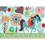 Horsey Love Canvas Art Size: 10'' H x 14'' W x 1.5'' D, Color: Blonde