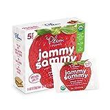 Plum Organics Jammy Sammy, Organic Kids Snack Bar, Peanut Butter & Strawberry, 5 bars x 1.02 oz (Pack of 6)