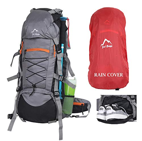 YOI Yo! Bag Hiking Bag For Men 65 Litres Rucksack Travel Backpack For Adventure Camping Trekking Bag With Rain Cover & Shoes Compartment Price & Reviews