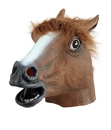 Novelty Halloween Costume Party Animal Head Mask - Brown Horse (BROWN)