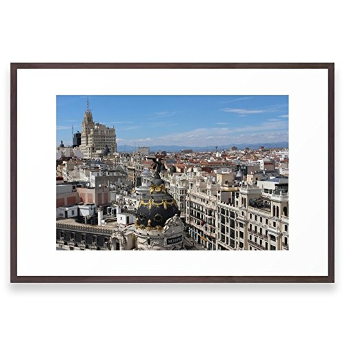 Society6 Madrid Espana Framed Print Conservation Walnut LARGE (Madrid Walnut)