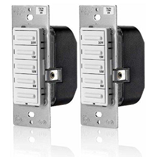 Leviton LTB30-1LZ Decora Preset 30 Minute Countdown Timer Switch (2 Pack) -
