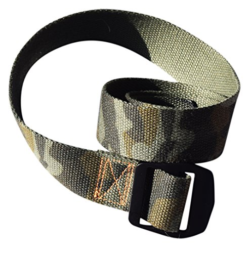 Premium Nylon Web Belt- Military Style. Nylon/cotton blend webbing, super durable, tactical style for both Men & Women. Cut for easy custom fit, for casual or professional. (Cotton Blend Belt)