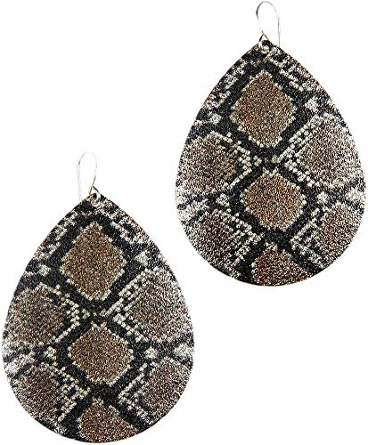 (Earrings - Striking Snake Skin Design, Diamondback)