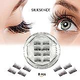 magnetic SILKSENCE Dual Magnetic False Eyelashes-Premium Quality for Natural Look(8pcs)
